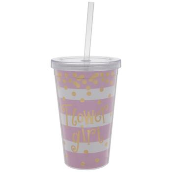 Flower Girl Striped Confetti Cup