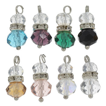 Stacked Glass Bead Charms
