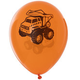 Orange Construction Balloons