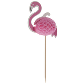 Honeycomb Flamingo Cupcake Toppers