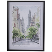 New York Stroll Framed Wall Decor