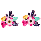 Bright Flower Iron-On Appliques