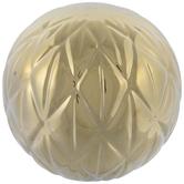 Metallic Gold Geometric Decorative Sphere