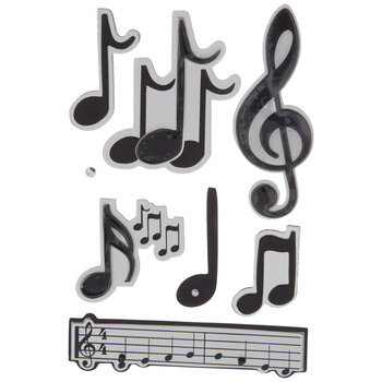 Music Notes 3D Stickers