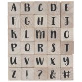 Uppercase Brush Alphabet Rubber Stamps