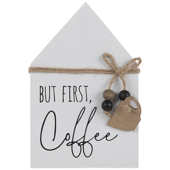 But First Coffee Wood Decor