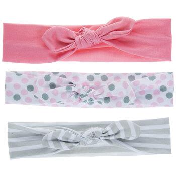 Pink Polka Dot Knot Headbands