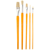 Bristle Art Paint Brushes - 5 Piece Set