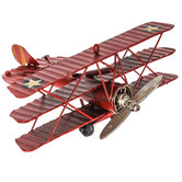 Red Tri-Level Metal Plane With Stars