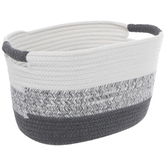 Gray & White Rope Container