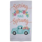 Spring Has Sprung Truck Kitchen Towel