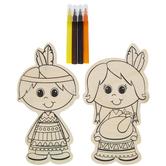 Native American Boy & Girl Wood Craft Kit