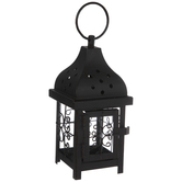 Black Ornate Window Metal Lantern
