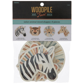 Safari Animals Painted Wood Shapes
