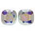 Crystal AB Cushion Fancy Square Swarovski Stones - 10mm