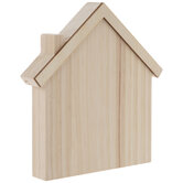 Wood House With Roof