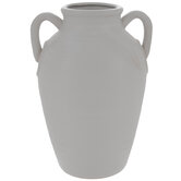 White Ridged Vase