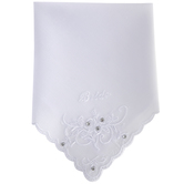 White Bride Embroidered Hankie