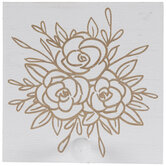 White Floral Wood Wall Decor With Hook