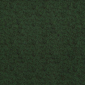 Dark Green Packed Floral Cotton Calico Fabric