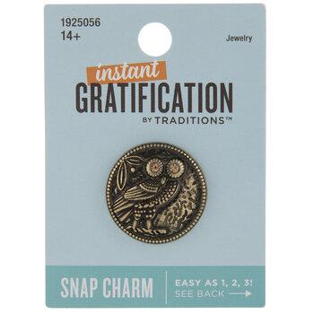 Ornate Owl Snap Charm