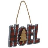Noel Buffalo Check Ornament