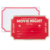 Movie Night Invitations