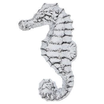 White Metal Seahorse Knob