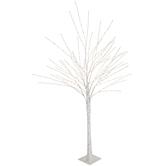 White Birch Pre-Lit Christmas Tree – 5'