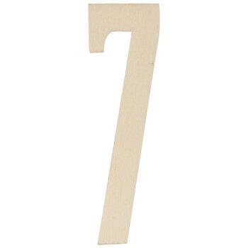 Vintage Sign Wood Numbers - 7