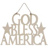 God Bless America Wood Shape