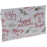 Foil Christmas Phrases Gift Card Holders