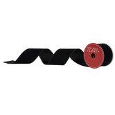 """Black Velvet Wired Edge Ribbon - 2 1/2"""""""