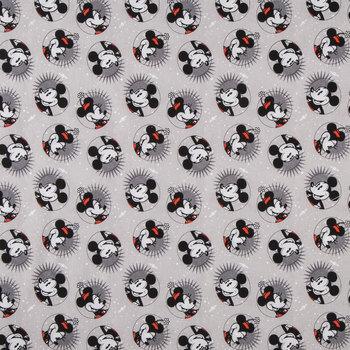 Smile Mickey & Minnie Cotton Calico Fabric