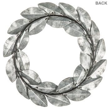 Leaf Wreath Metal Wall Decor