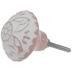 Distressed Pink Medallion Embossed Knob