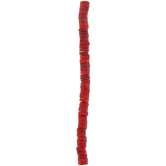Red Wheel Coral Bead Strand