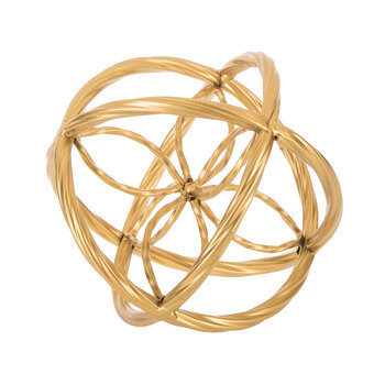 Gold Ornate Metal Decorative Sphere
