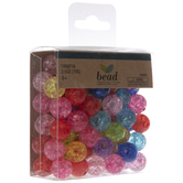Bright Crackle Round Beads