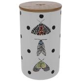 Polka Dots & Moths Canister