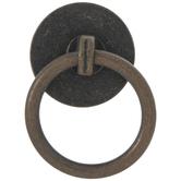 Antique Copper Metal Ring Pull