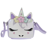 Purple Glitter Unicorn Handbag