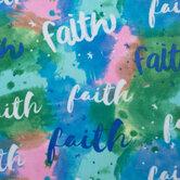 Live In Faith Fleece Fabric