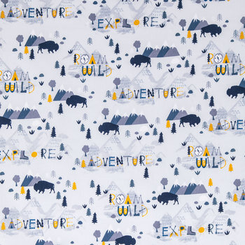 Roam Wild Cotton Calico Fabric