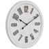 Round Whitewash Wood Wall Clock