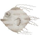 Gray Rustic Fish Metal Wall Decor
