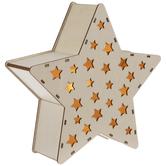 Light Up Wood Star