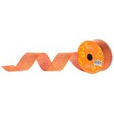"Orange Metallic Glitter Ribbon - 1 1/2"""
