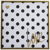 Love Polka Dot Canvas Wall Decor