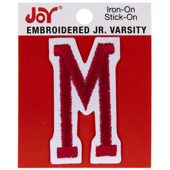 Red Junior Varsity Letter Iron-On Applique M - 2""